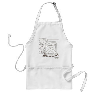 Timer: 'Today...Yesterday...Tomorrow Adult Apron