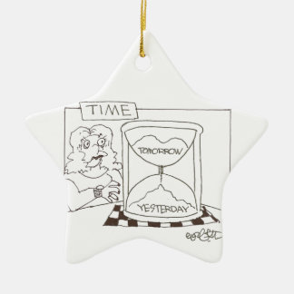 Timer: 'Today...Yesterday...Tomorrow Ceramic Ornament