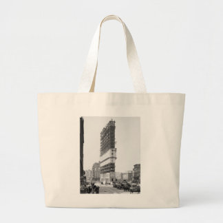 Times Building Under Construction, New York: 1904 Canvas Bags
