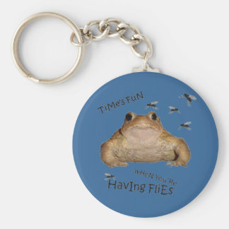Time's Fun When You're Having Flies Basic Round Button Keychain