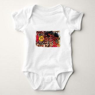 Times  Is Hard - grafitti wall Baby Bodysuit