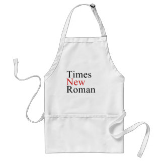 Times New Roman Delantal