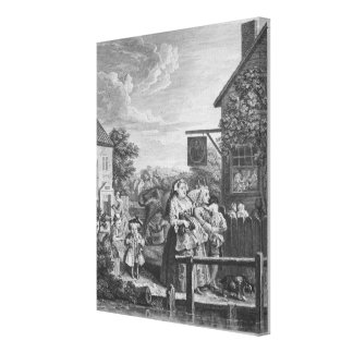 Times of the Day, Evening, 1738 Canvas Print