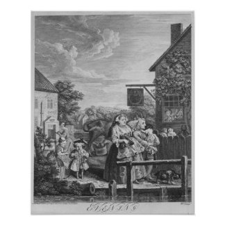 Times of the Day, Evening, 1738 Poster
