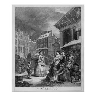 Times of the Day, Morning, 1738 Poster