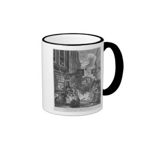 Times of the Day, Night, 1738 Coffee Mugs