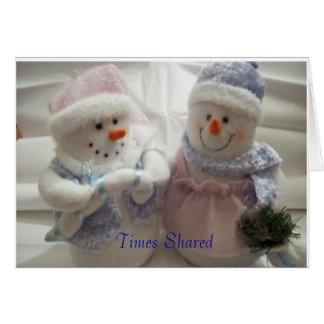 Times Shared Make Wonderful Memories Cards