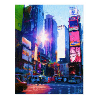 Times Sq Sun Reflection Postcard