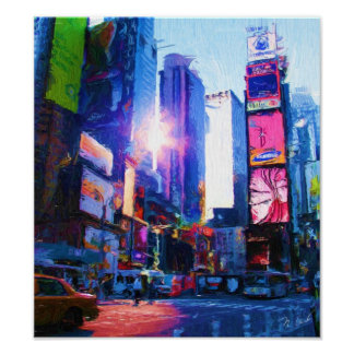 Times Sq Sun Reflection Poster