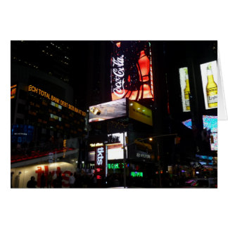 times sqare neon greeting card
