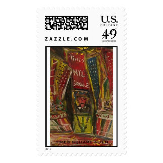 times square alien postage