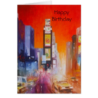 Times Square America Happy Birthday Card