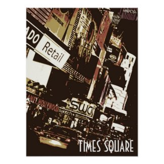 Times Square Artistic Poster print