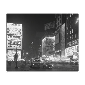 Times Square at Night, 1953 Canvas Print