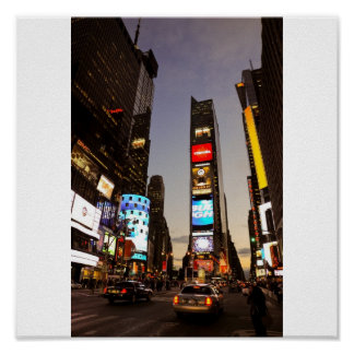 Times Square at night Print