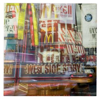 Times Square at Twilight Ceramic Tile