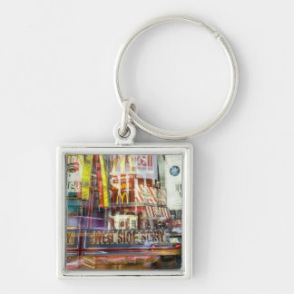 Times Square at Twilight Keychain