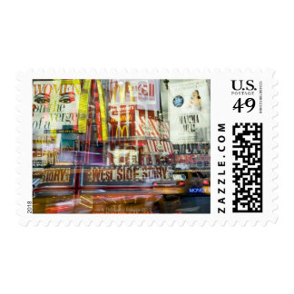 Times Square at Twilight Stamp