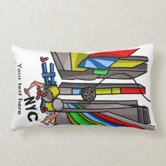 Times Square Ball Drop Funny Cartoon Lumbar Pillow