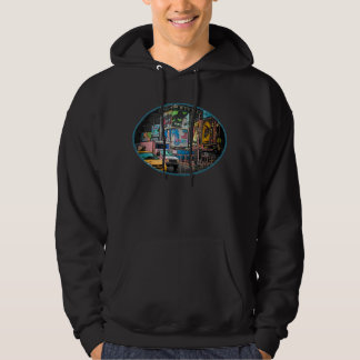 Times Square Billboards Dark Hoodie (unisex)