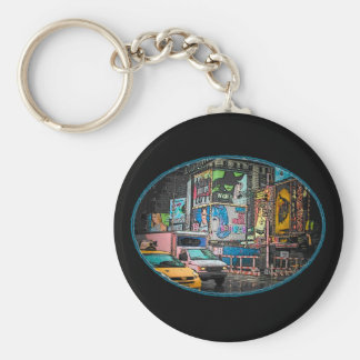 Times Square Billboards Keychain