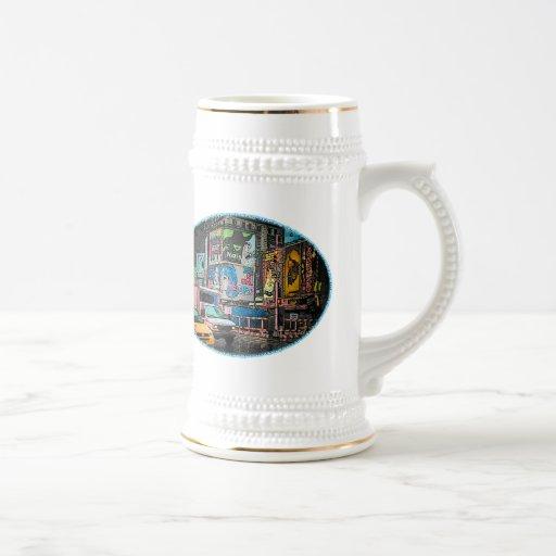 Times Square Billboards Stein Coffee Mug