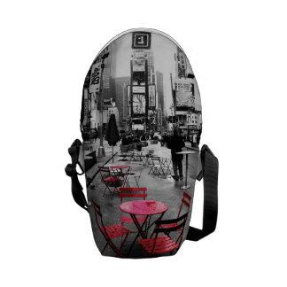 Times Square Black White Red Bag