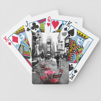 Times Square Black White Red Playing Cards