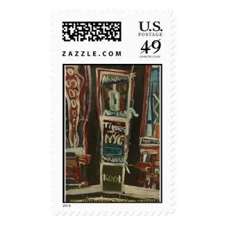times square blank  postage stamp
