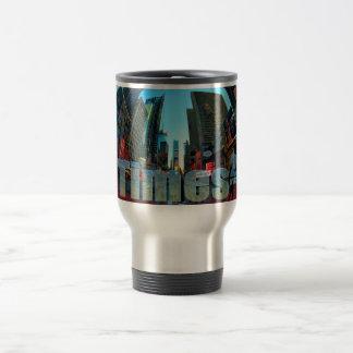 Times Square Broadway New York City, New York 15 Oz Stainless Steel Travel Mug