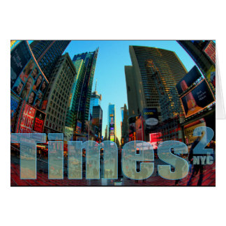 Times Square Broadway New York City New York Greeting Card