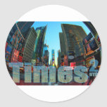 Times Square Broadway New York City, New York Round Sticker