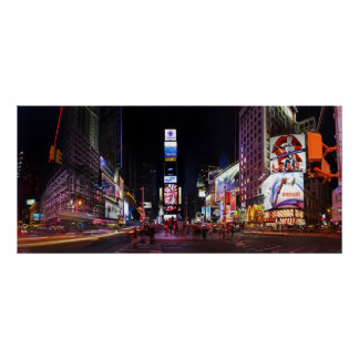 Times Square by Night Panorama Poster