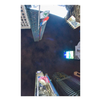 Times Square by night Stationery