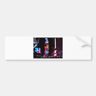 Times Square Car Bumper Sticker