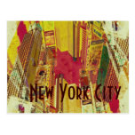 Times Square, collage de New York City Tarjeta Postal