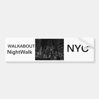 Times Square CricketDiane de NightWalk New York Ci Etiqueta De Parachoque