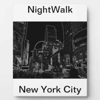 Times Square CricketDiane de NightWalk New York Placas De Madera