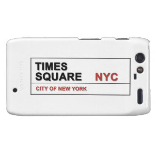 Times Square de New York City Motorola Droid RAZR Funda