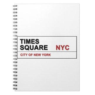 Times Square de New York City Libretas