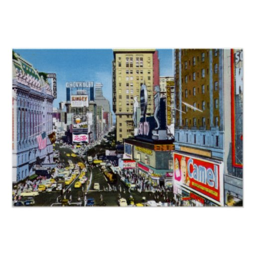Times Square de New York City Posters