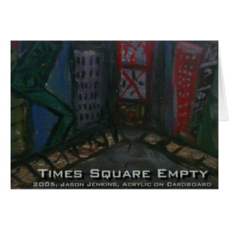 times square emtpy card