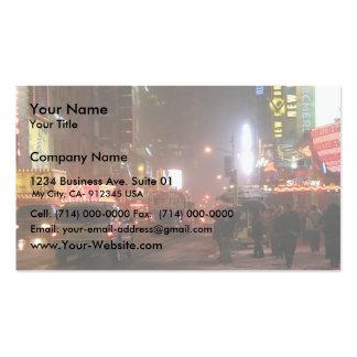 Times Square en la 42.a calle Tarjetas De Visita