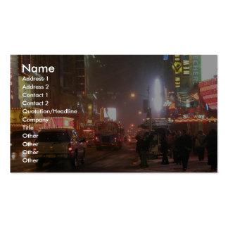 Times Square en la 42.a calle Plantillas De Tarjeta De Negocio