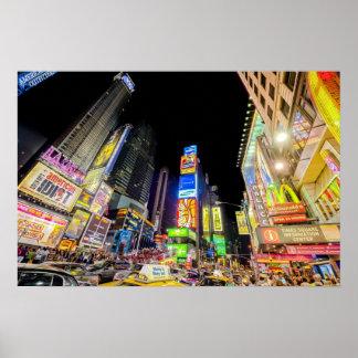 Times Square en la ciudad que nunca duerme Póster