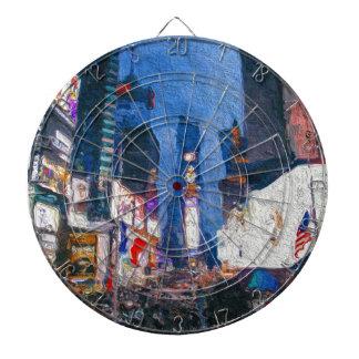 Times Square en la pintura de la noche