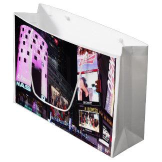 Times Square en New York City (rosa) Bolsa De Regalo Grande