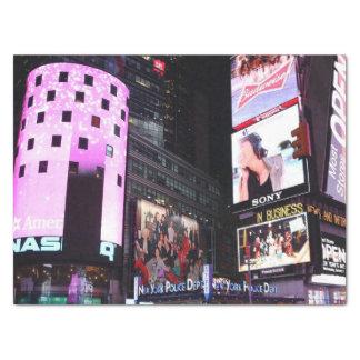 Times Square en New York City (rosa) Papel De Seda Mediano