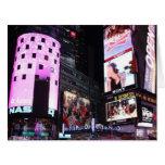 Times Square en New York City (rosa) Tarjeton