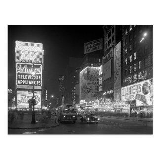 Times Square en Night, 1953 Tarjetas Postales